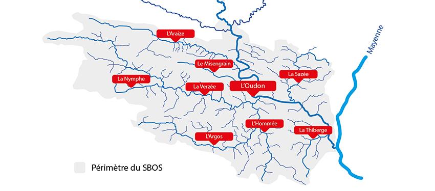 Carte des principaux cours d'eau