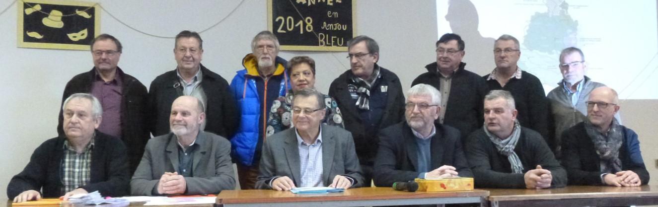 Les membres du bureau élus le 24 janvier 2018