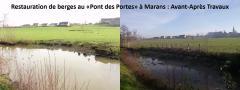 """Travaux au """"pont des portes"""" à Marans : Avant/Après"""