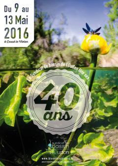 Flyer 40 ans du Syndicat de bassin pour l'Aménagement de la rivière Oudon