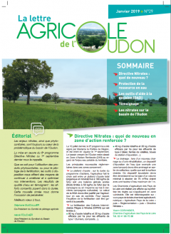 Lettre agricle N°29 janvier 2019