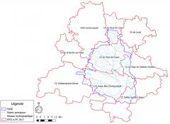 Limite du bassin versant de l'Oudon - juin 2017