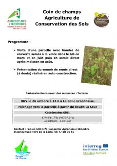 Flyer présentation rencontre technique conservation des sols